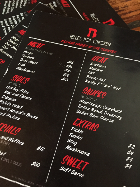 "Menu options - this time it is ""Really F**ing Hot"""